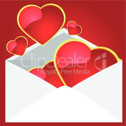 Kuvert mit Herzen