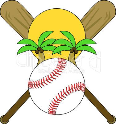 Baseball unter Palmen