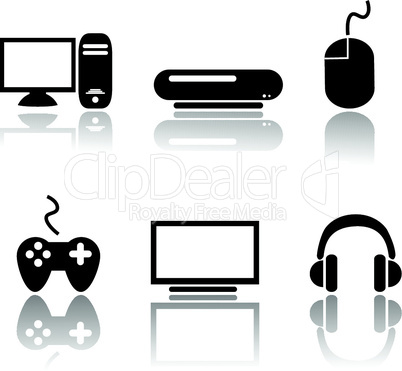Icons Video und Gaming