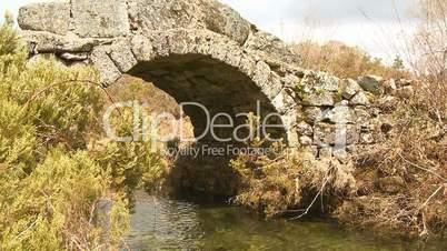 Old Roman bridge in Portugal