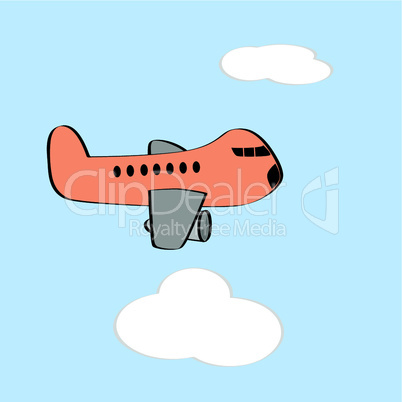 Naives Flugzeug