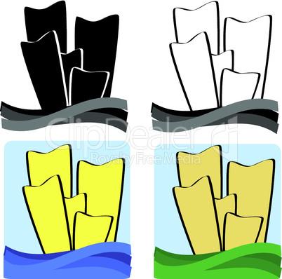 Abstrakte Hochhäuser