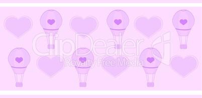Rosa Heißluftballons