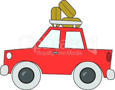 Auto mit Dachgepäck