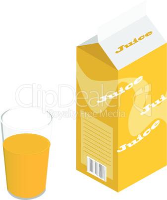 Karton Orangensaft