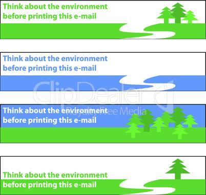 Banner Umweltschutz