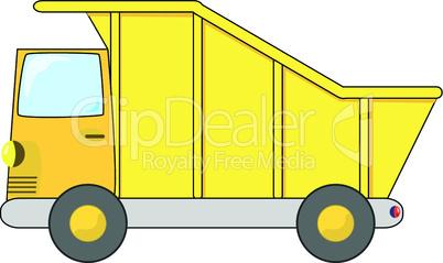 Gelbes Containerfahrzeug