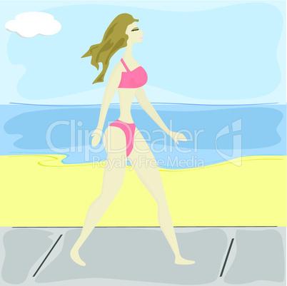 Bikini-Mädchen