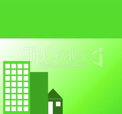Hintergrund grüne Immobilien