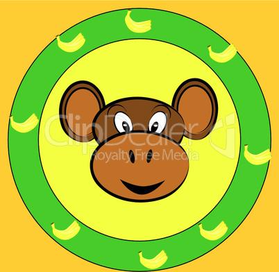 Logo mit Affe