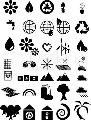Umwelt-Icons