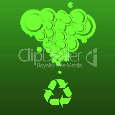 Recycling-Symbol mit Wolke