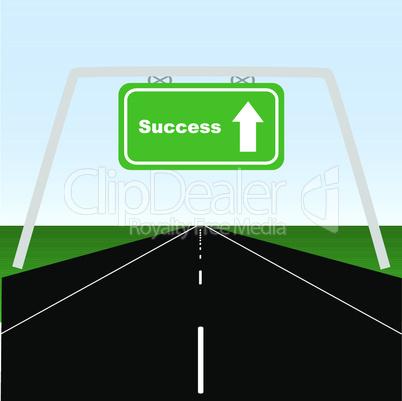 Straße zum Erfolg