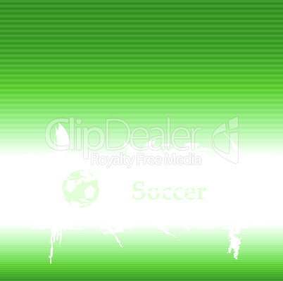 Grün-weißer Fußballhintergrund