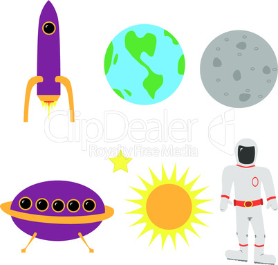 Raumfahrt-Objekte