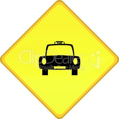 Hinweisschild Taxi