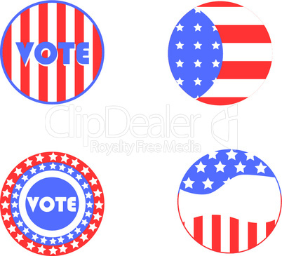 USA Wahl-Buttons