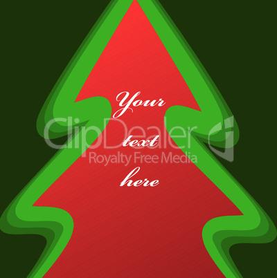 Hintergrund mit Weihnachtsbaum