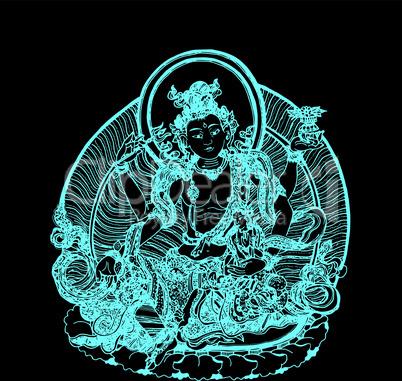 Mintefarbenener Avalokiteschvara