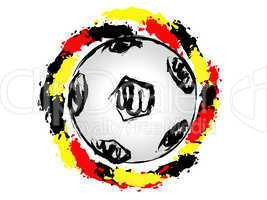German soccer ball circle