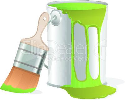 illustration of paint bucket