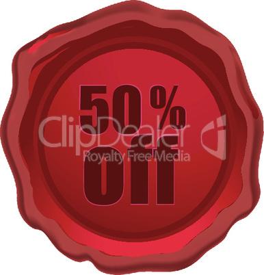 illustration of 50 % off