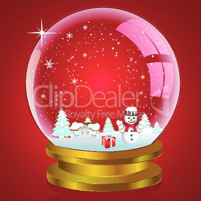 illustration of snow globe
