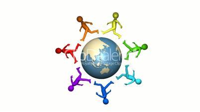 Globus und Menschen