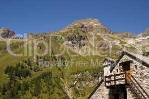 """Rebbio"" mount in the italian Alps"
