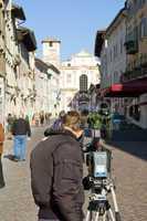 Cameraman in the street