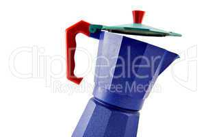 Blue coffeepot