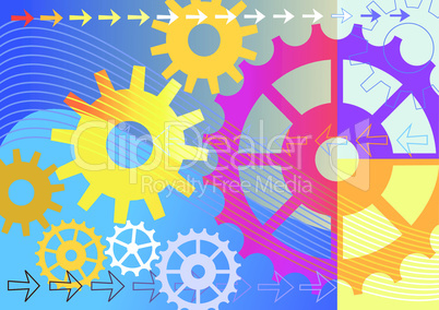 Colorful mechanical background