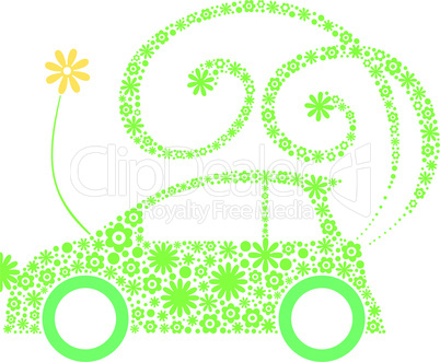 Ecological friendly flower car concept