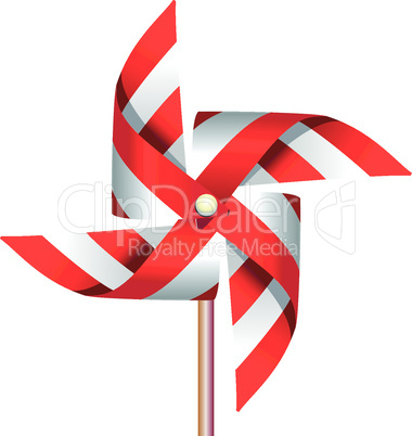 Red windmill toy