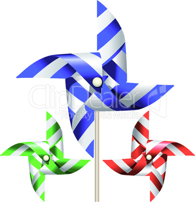Windmill toy vector graphic