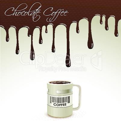 coffee mug with dripping chocolate