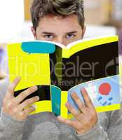 Male student with book