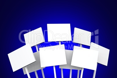 White Signs on Blue - 01
