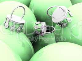 Weihnachtskugeln 01 Pastell Grün