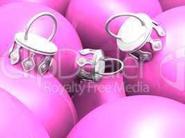 Weihnachtskugeln 02 Pastell Pink / Rosa