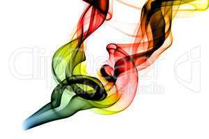 RGB Fume Abstract shape on white