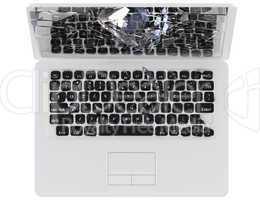 Computer crash concept - hack, trojan, virus,