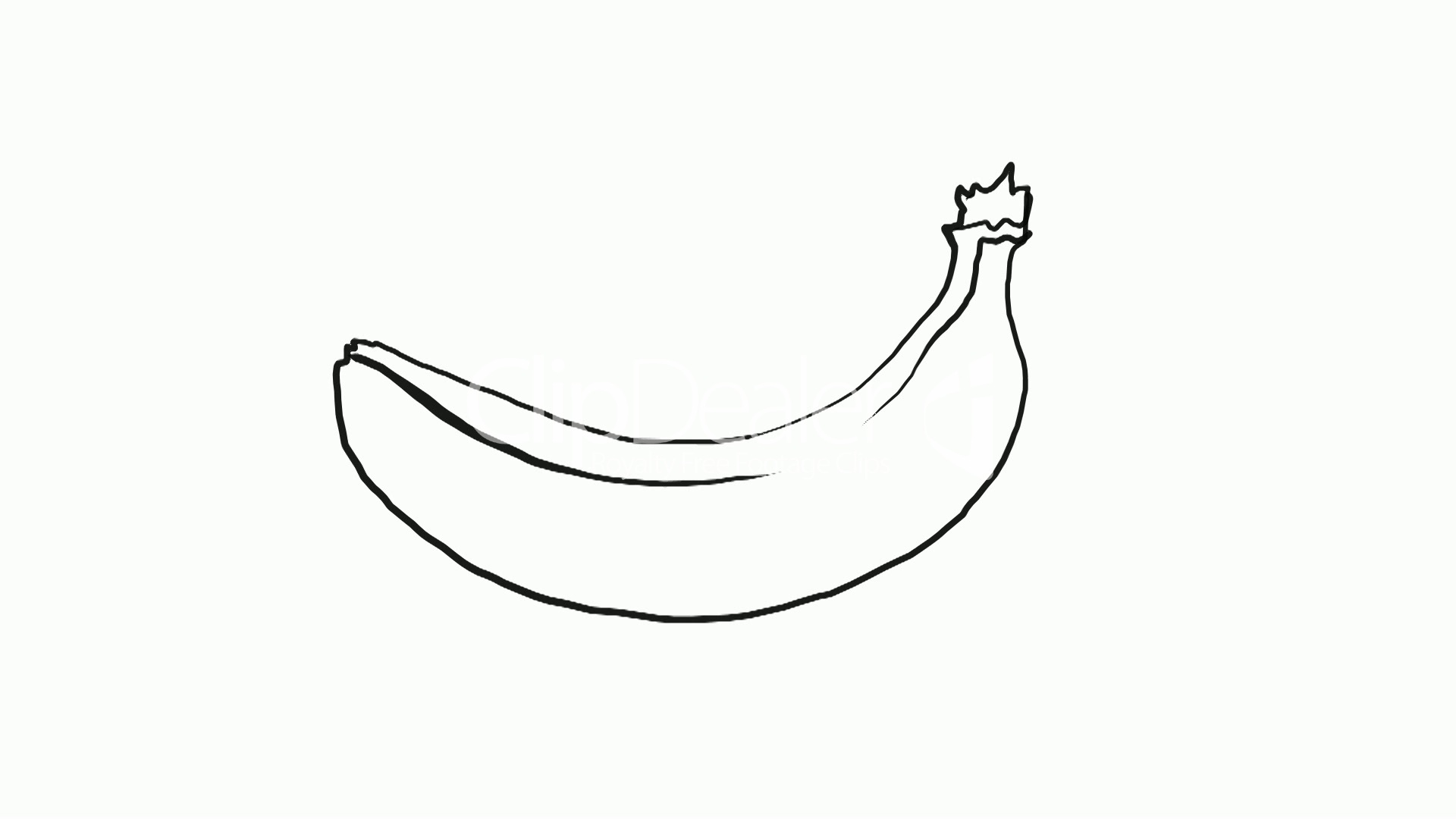 drawing of a banana royaltyfree video and stock footage