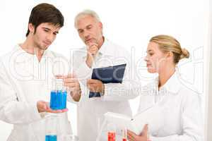 Chemistry experiment -  scientists in laboratory