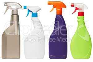 set of four spray bottles