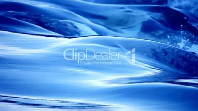 flowing blue Water and wave time laps looping