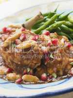 Breast of Chicken with Pomegranate and Almonds