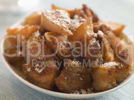 Dish of Chicharrones with Sea Salt Flakes