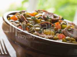 Green Lentil and Chorizo Sausage Stew