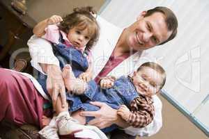 Consultant holding IVF children